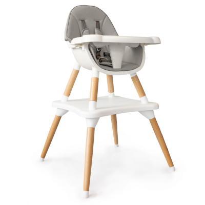 Fotelik, krzesełko do karmienia, stół i krzesło, 2w1, szary