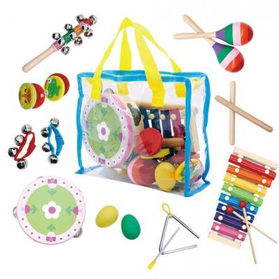 Zestaw muzyczny dla dzieci, 14 instrumentów, torba