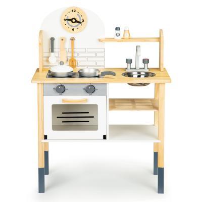 Drewniana kuchnia dla dzieci, akcesoria do gotowania