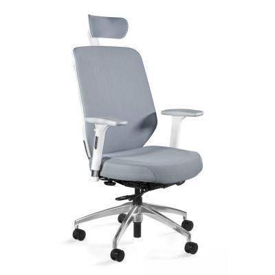 Fotel biurowy, ergonomiczny, Hero, biały, szary