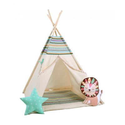Namiot tipi dla dzieci, bawełna, lew, indiańska przygoda