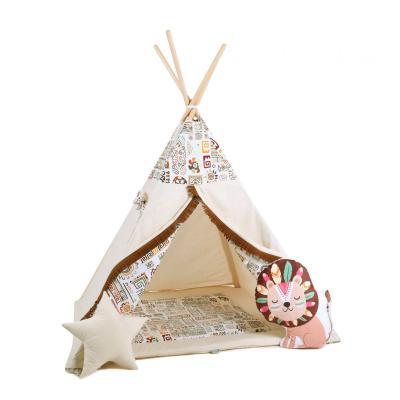 Namiot tipi dla dzieci, bawełna, lew, egipska zagadka