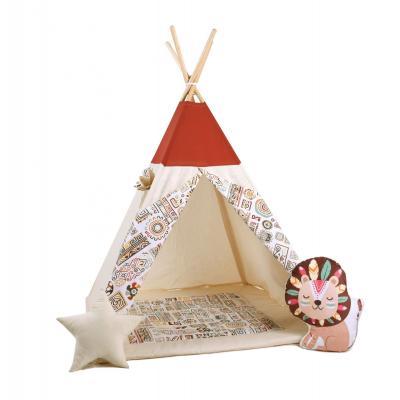 Namiot tipi dla dzieci, bawełna, lew, egipski kącik