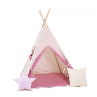 Namiot tipi dla dzieci, bawełna, okienko, poduszka, gumijagódka