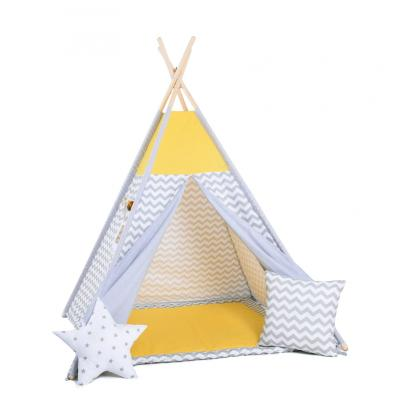 Namiot tipi dla dzieci, bawełna, okienko, poduszka, słoneczne fale
