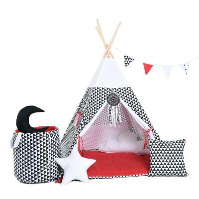 Namiot tipi dla dzieci, bawełna, okienko, mega zestaw, kultowa iskierka