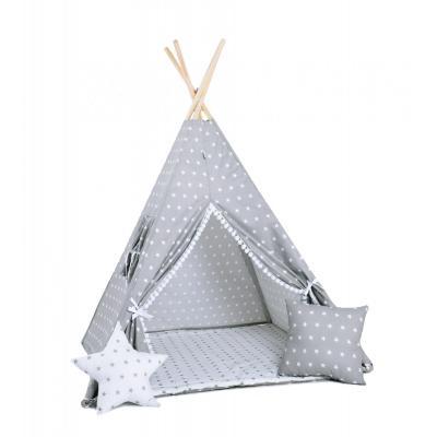 Namiot tipi dla dzieci, bawełna, okienko, poduszka, królicza łapka
