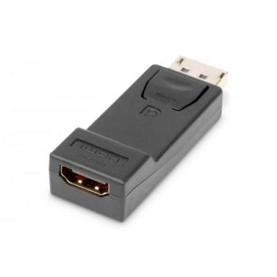 Digitus Adapter Displayport 1080p 60Hz FHD Typ DP/HDMI A M/Ż czarny