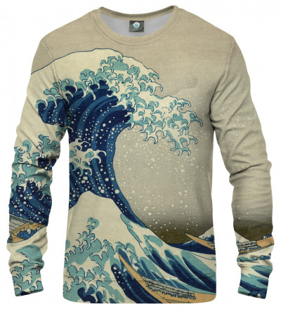sweatshirt with uneasy waters motive