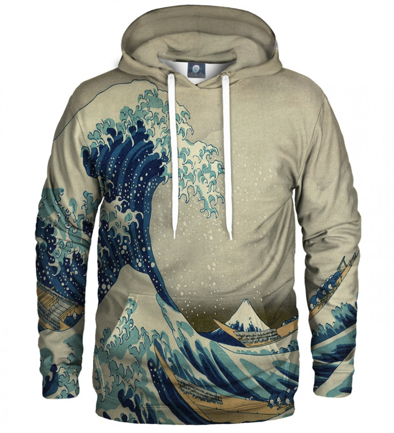 hoodie with uneasy waters motive