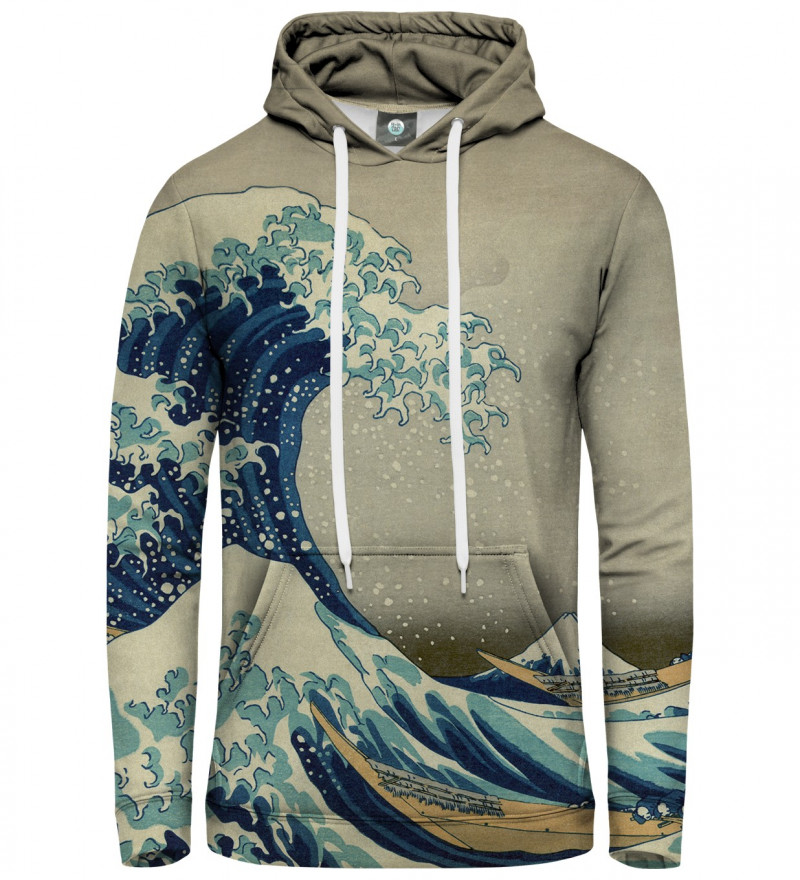 women hoodie with uneasy waters motive