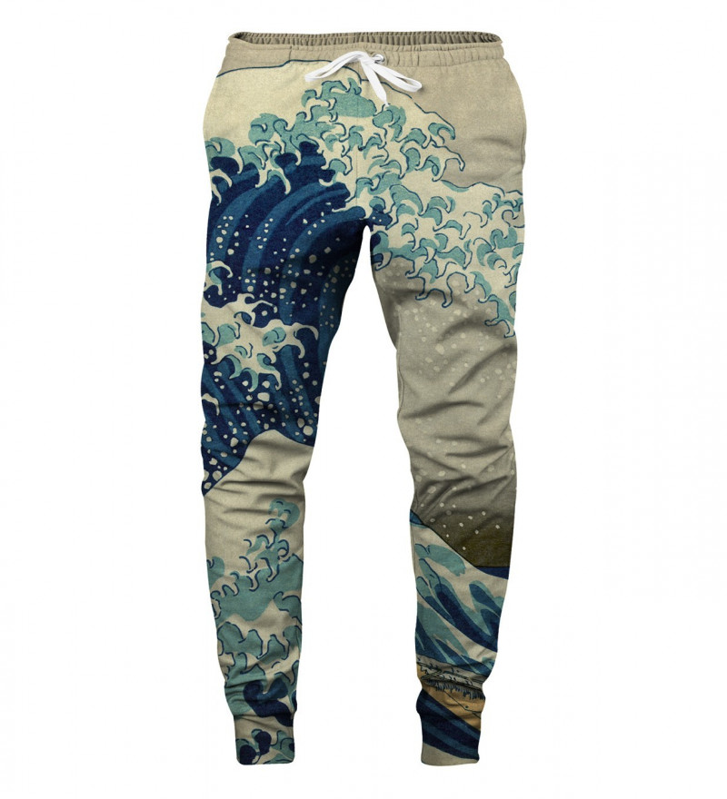 sweatpants with uneasy waters motive