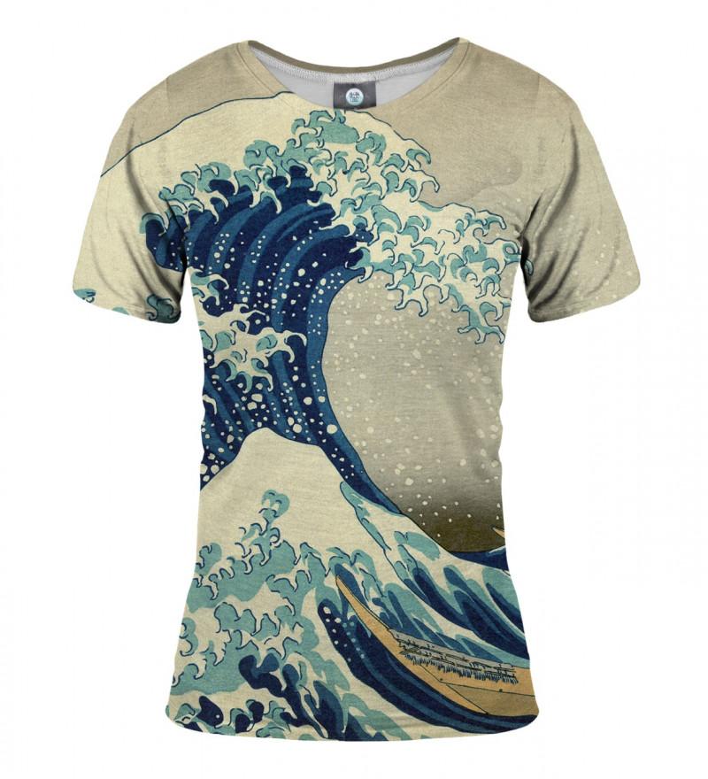 koszulka damska z motywem wzburzonego morza