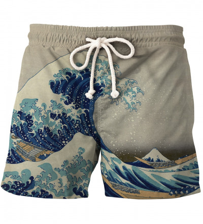 swim shorts with uneasy waters motive