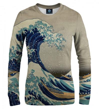 women sweatshirt with uneasy waters motive