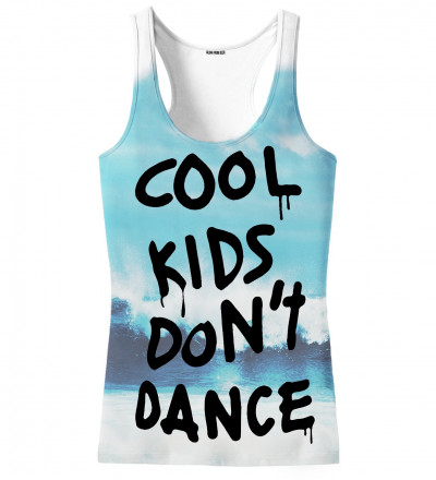 tank top with cool kids don't dance inscription