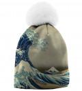 Great Wave beanie, by Katsushika Hokusai