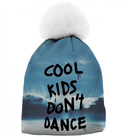 beanie with cool kids don't dance inscription