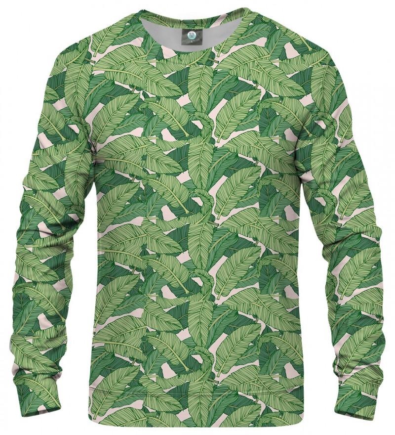 bluza z motywem zielonych liści
