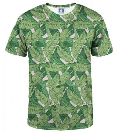 tshirt with green leaves motive