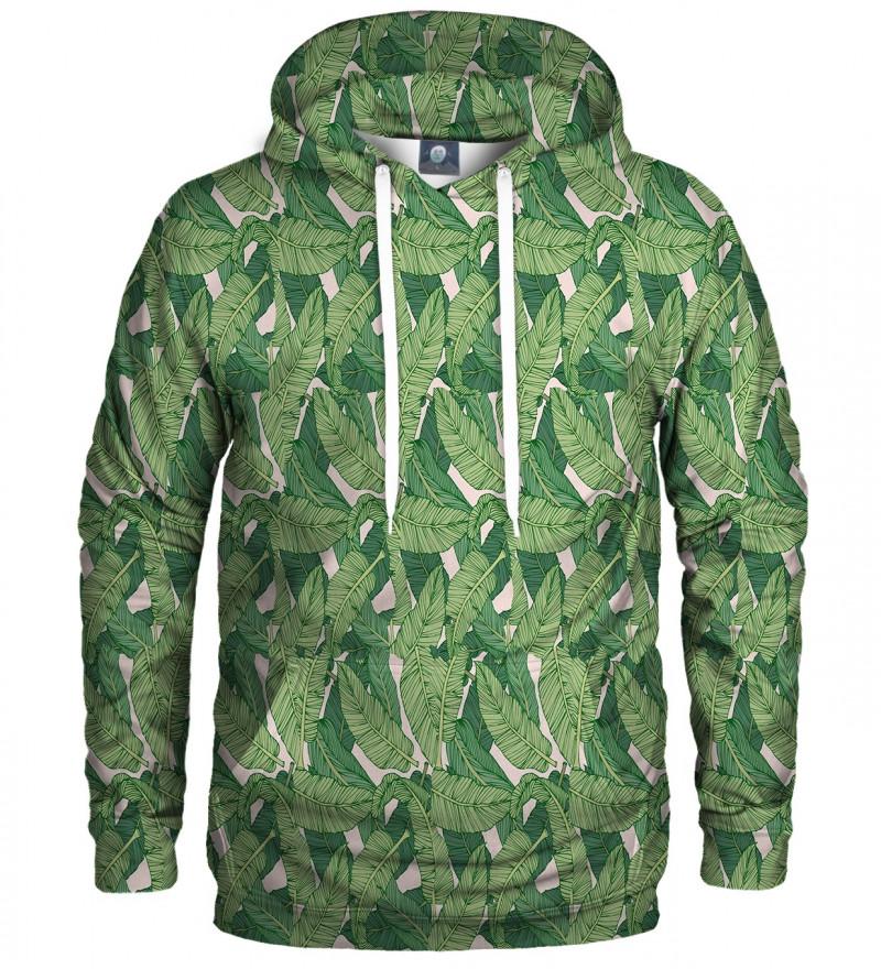 sweatshirt with green leaves motive