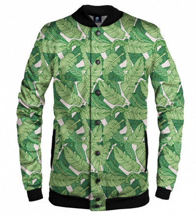 baseball jackets with green leaves motive