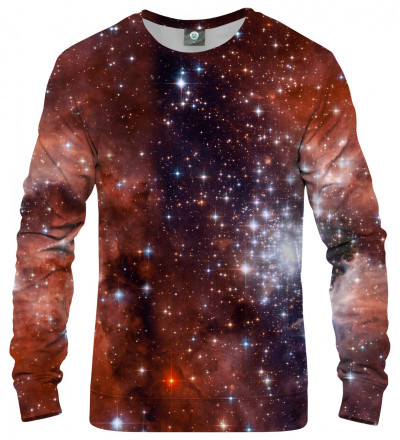 sweatshirt with galaxy motive