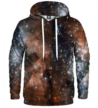 bluza z kapturem z motywem galaxy
