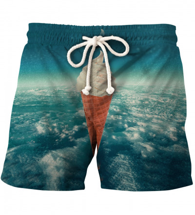 blue swimming shorts with ice cream motive