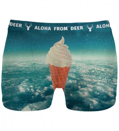Blue underwear with ice cream motive