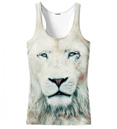 Tank top with lion motive