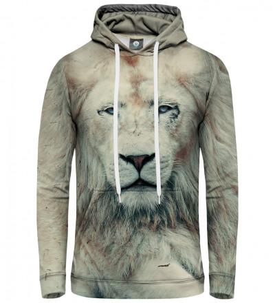 bluza z kapturem z motywem lwa