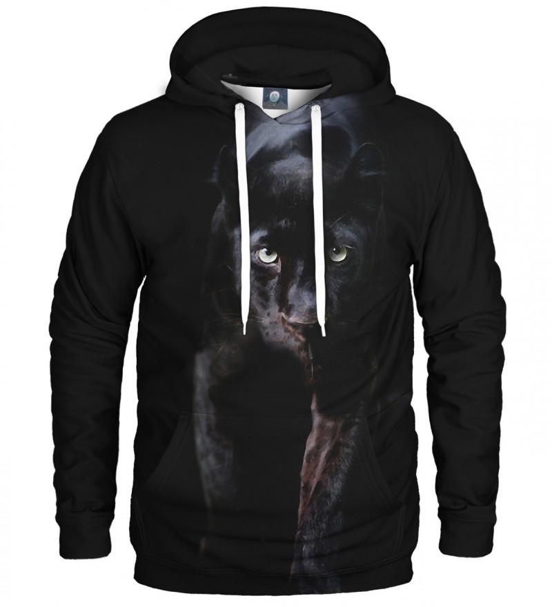 czarna bluza z kapturem z motywem pantery