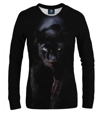 czarna bluza z motywem pantery