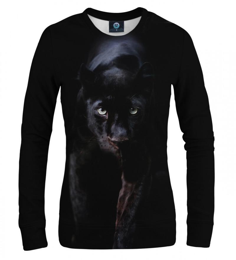 black sweatshirt with panther motive