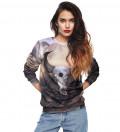 sweatshirt with goat motive