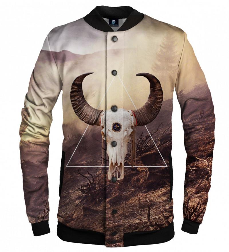 baseball jacket with goat motive