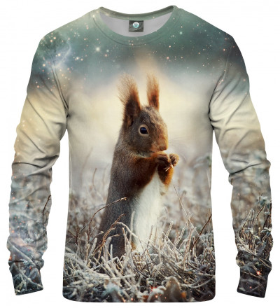 sweatshirt with squirrel motive
