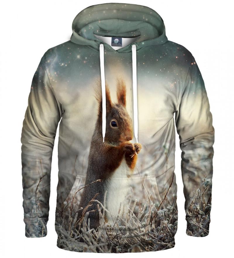 bluza z kapturem z motywem wiewiórki