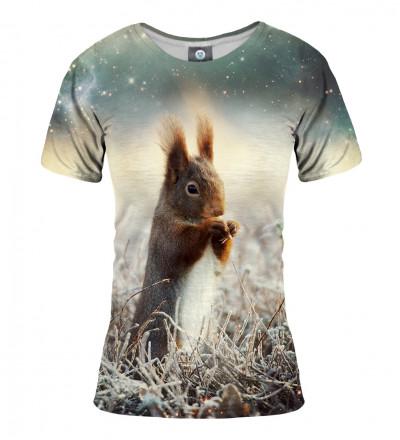 koszulka z motywem wiewiórki