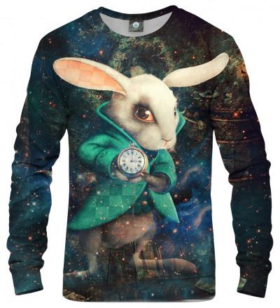 sweatshirt with rabbit from alice in wonderland
