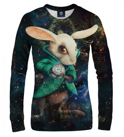 sweatshirt with rabbir from alice in wonderland