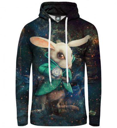bluza z kapturem z królikiem z alicji w krainie czarów