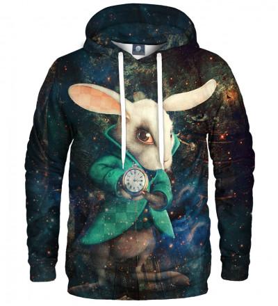 bluza z kapturem z motywem królika z alicji w krainie czarów