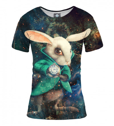tshirt wit rabbit from alice in wonderland