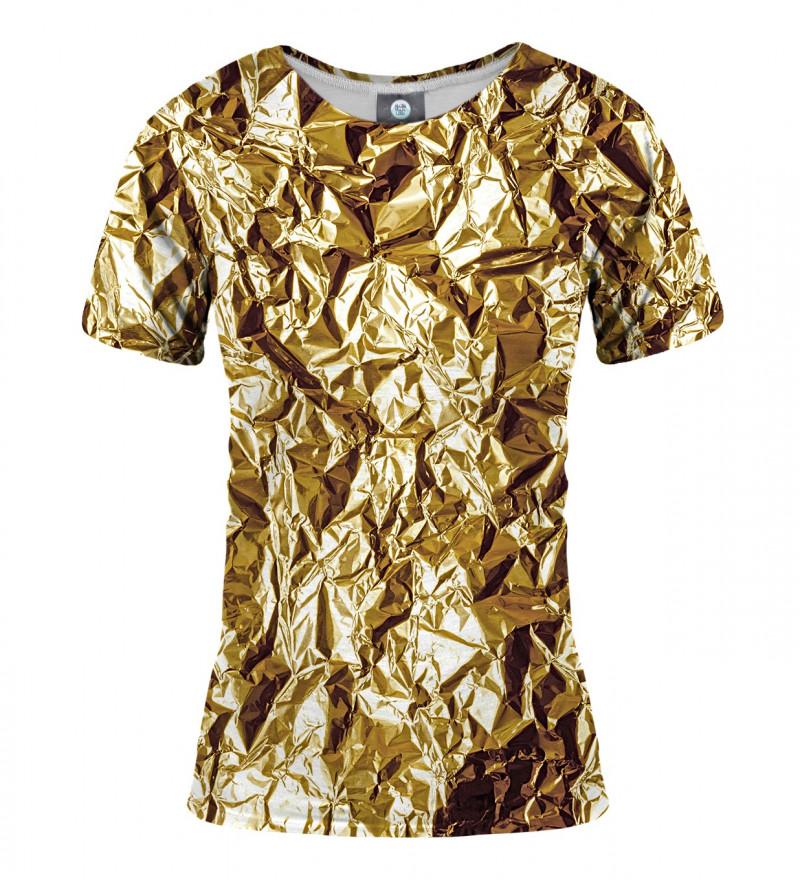 koszulka z imitacją złota