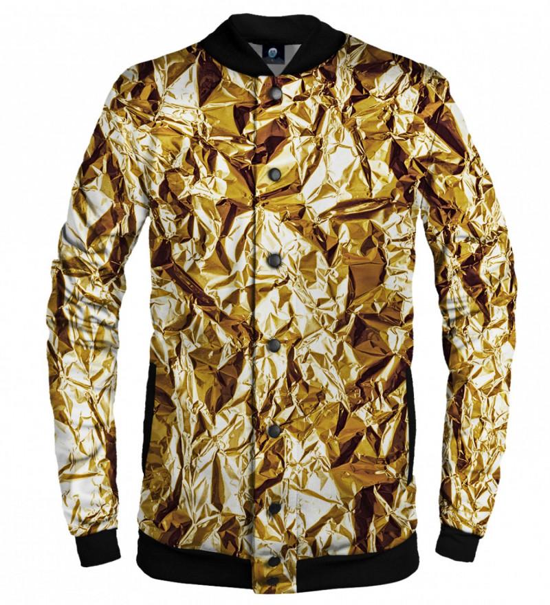 golden baseball jacket