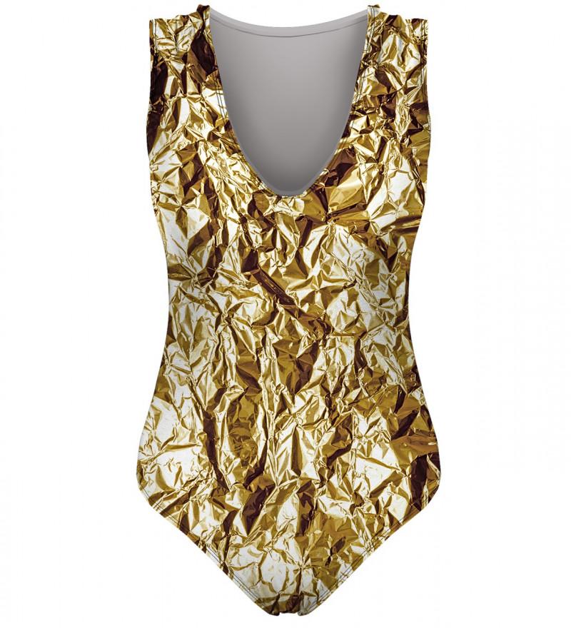 strój kąpielowy z imitacją złota
