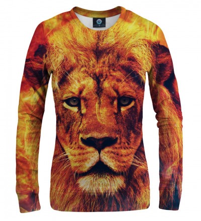 orange sweatshirt with lion