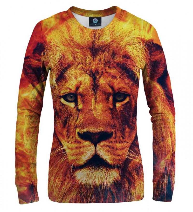 orange sweatshirt with lion